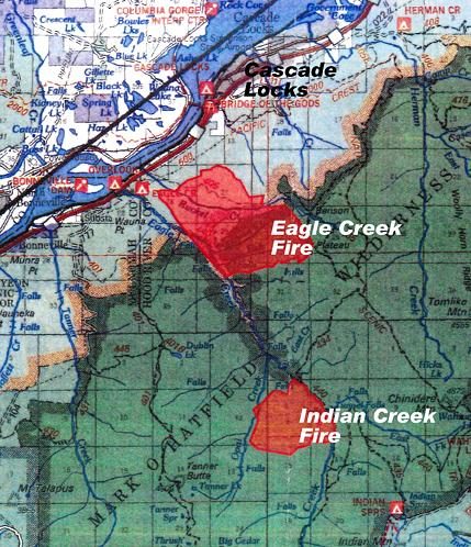 Cascade Locks Fire Map.Eagle Creek Fire Updates Columbia Insight